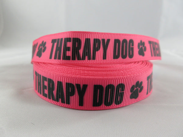 "3/4"" Pink Therapy Dog Dog Collar - Penny and Hoover's Pig Pen"