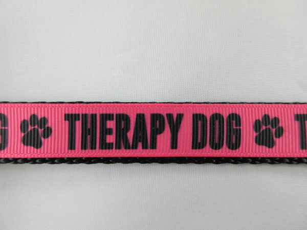 "3/4"" Pink Therapy Dog Leash - Penny and Hoover's Pig Pen"