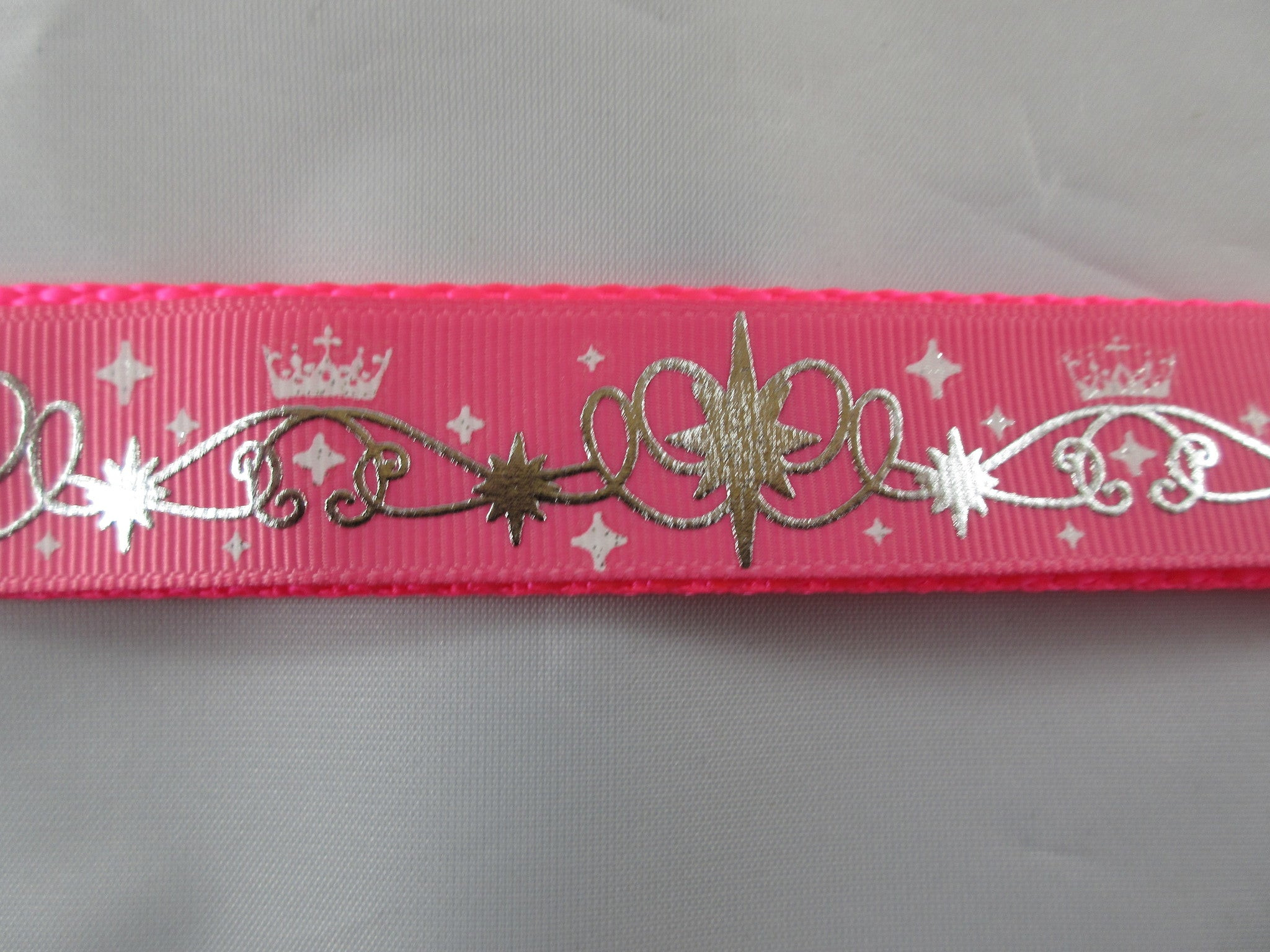 "1"" Pink Tiara Swirls Dog Collar - Penny and Hoover's Pig Pen"