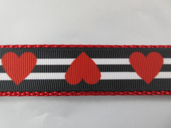 "1"" Queen of Hearts Dog Collar - Penny and Hoover's Pig Pen"