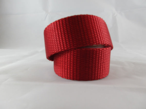 "1"" Red Nylon Dog Collar - Penny and Hoover's Pig Pen"
