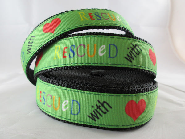 "3/4"" Rescued With Love Leash - Penny and Hoover's Pig Pen"