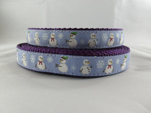 "3/4"" Snowman Dog Collar - Penny and Hoover's Pig Pen"
