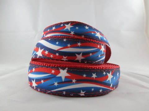 "3/4"" Star Spangled Leash - Penny and Hoover's Pig Pen"
