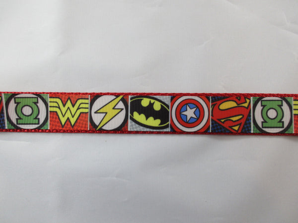 "1"" Super Hero Dog Collar - Penny and Hoover's Pig Pen"
