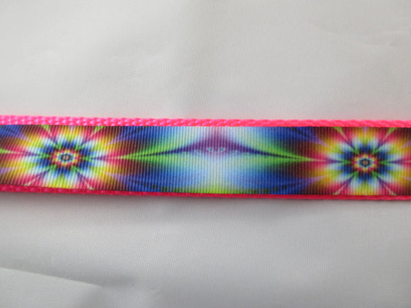 "1"" Tie Dye Flowers Pig Harness - Penny and Hoover's Pig Pen"