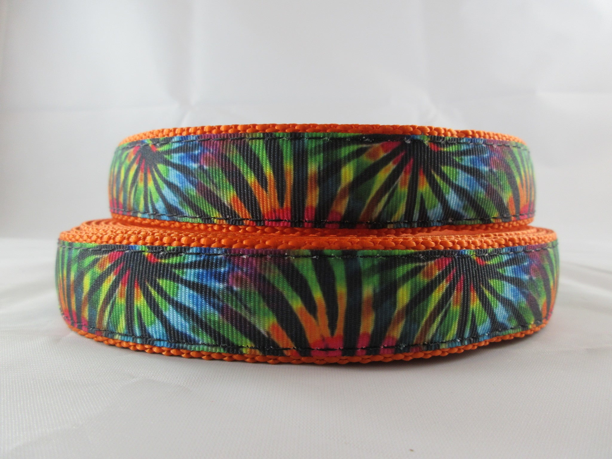"1"" Tie Dye Stripes Dog Collar - Penny and Hoover's Pig Pen"