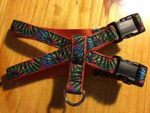 "3/4"" Tie Dye Stripes Pig Harness - Penny and Hoover's Pig Pen"