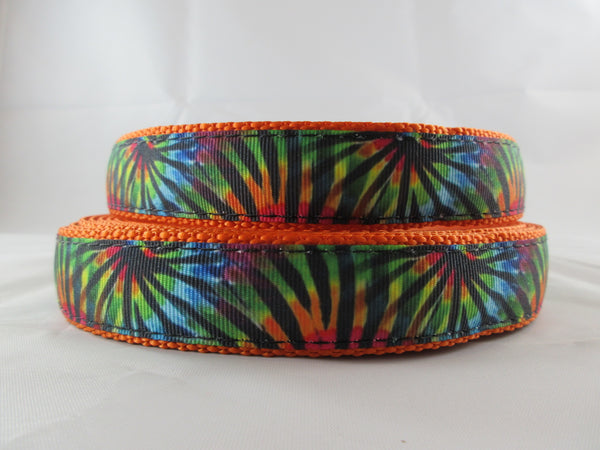 "1"" Tie Dye Stripes Leash - Penny and Hoover's Pig Pen"