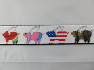 "1"" When Pigs Fly Dog Collar - Penny and Hoover's Pig Pen"
