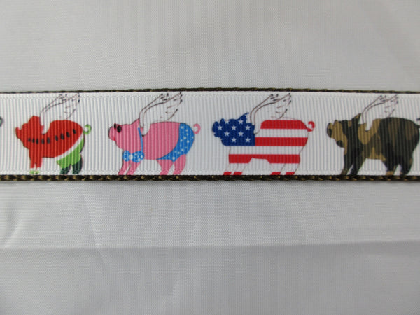 "3/4"" When Pigs Fly Dog Collar - Penny and Hoover's Pig Pen"