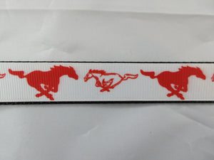 "1"" Wild Horses Dog Collar - Penny and Hoover's Pig Pen"