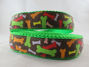 "1"" Zany Bones Leash - Penny and Hoover's Pig Pen"