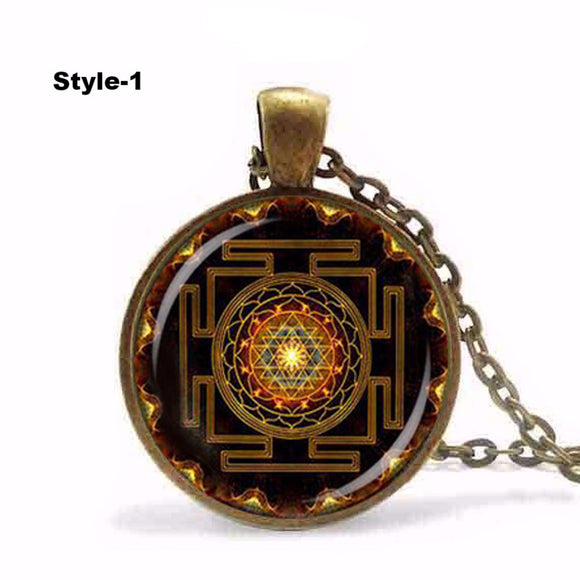 Sri Yantra Pendant Necklace