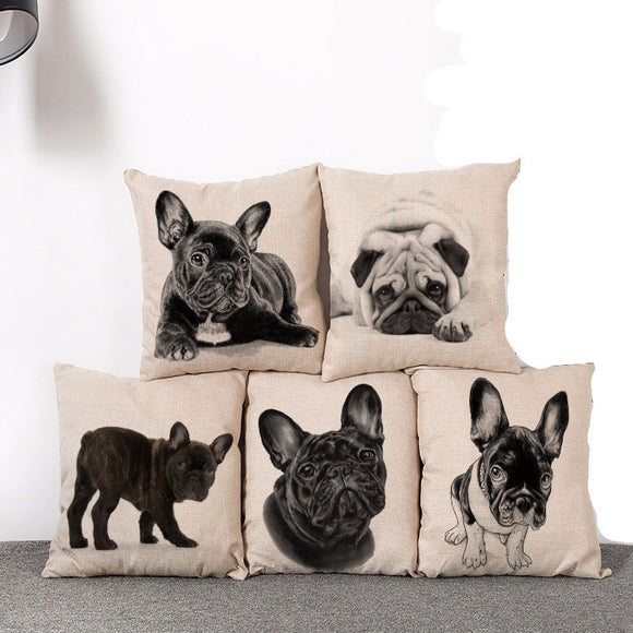 Pug Cushion Cover