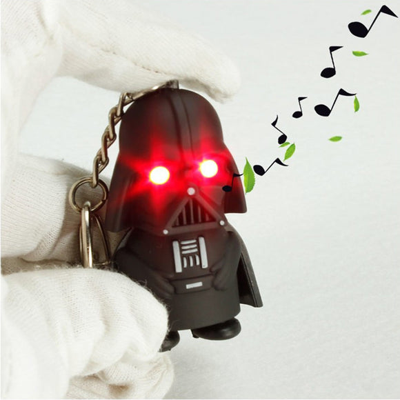 Darth Vader Key Chain LED Light Eyes