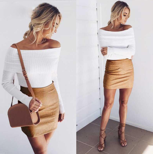 Off Shoulder Knitted Sweater (3 Colors)