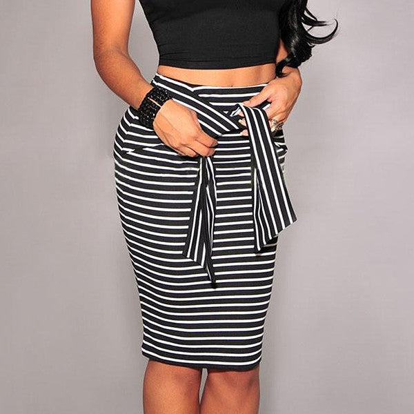 Lucy Striped Skirt (2 Colors)