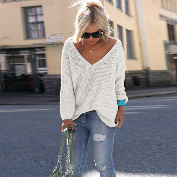 Loose V Neck Sweater (6 Colors)