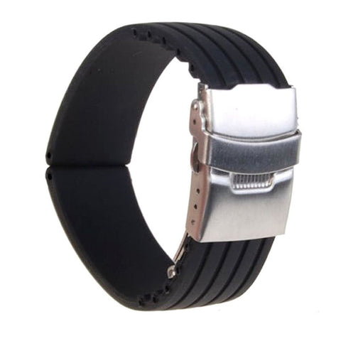 18/20/22/24mm Silicone Rubber Watch Strap