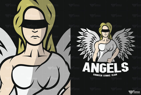Angel - Mascot Logo