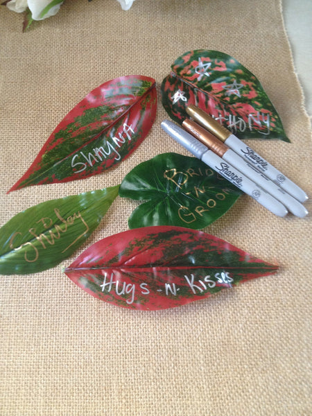 DIY Message On A Leaf For Wedding Leaf Place Cards, Birthday Parties, Fun Ideas For Kids!
