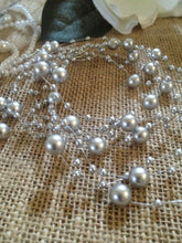 8mm & 3mm Floating Beaded Pearl Centerpieces Choose From 10 colors - Wedding Decorations, Trims  Available in: 1yd/3yd/5yd/10yd/1roll