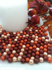300pc 8mm Pearls Candle Vase Fillers, Floating Pearl Centerpiece, Pearl Craft Project