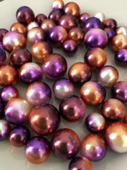 Purple Brown Vase Filler Pearls For Floating Pearl Centerpiece Decor, No Hole Pearl