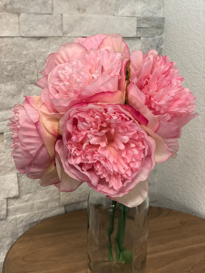 Pink Peony Bouquet Artificial Silk Flower