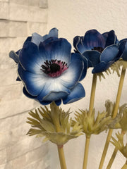 Blue Anemone PU Real Touch Flower
