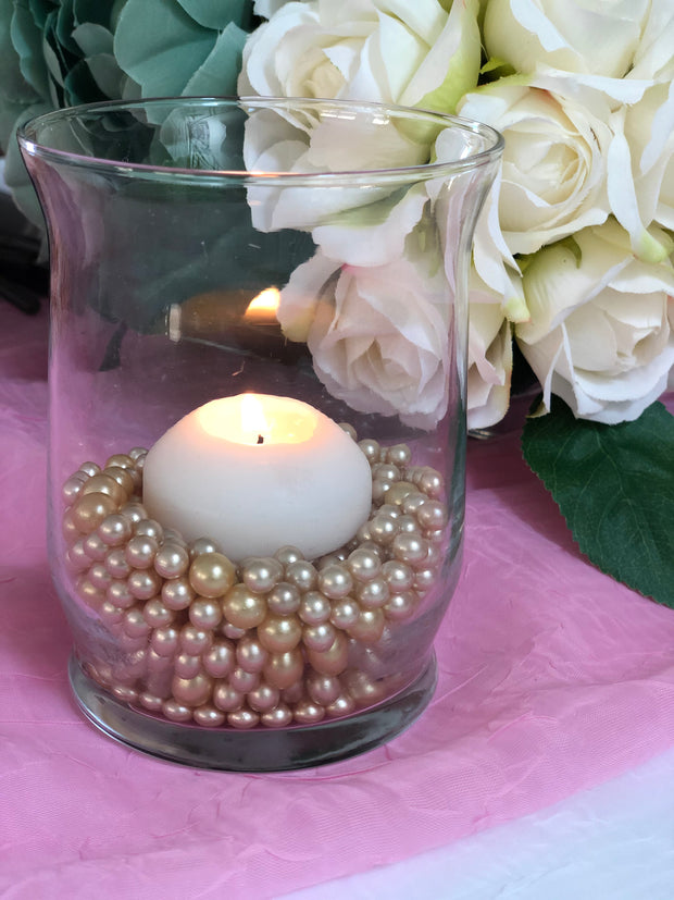 Champagne Pearl Confetti Vase Fillers 500pc Small Pearls No Holes