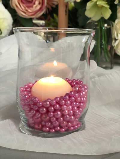 Pink Pearl Confetti Vase Fillers 500pc Small Pearls No Holes
