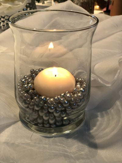 Light Silver Gray Pearl Confetti Vase Fillers 500pc Small Pearls No Holes