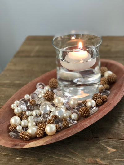 Vase Fillers Champagne Berry Beads/Pearls/Diamonds Filler, Create beautiful table desert decor perfect for mason jars, wine glass fillers