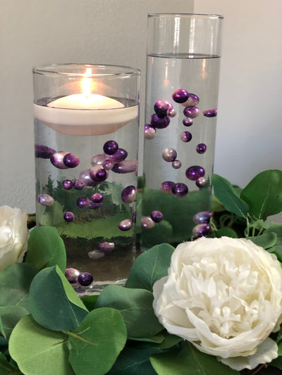 Floating Pearls Ombre/Watercolor Purple/Lilac 60pc mix size pearls. DIY Floating Pearl Centerpiece