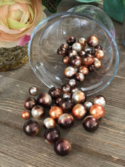 Floating Pearls Ombre/Watercolor Orange/Brown 60pc mix size pearls. DIY Floating Pearl Centerpiece