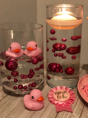 Baby Shower Decor Ideas Very Berry Pearls DIY floating pearl centerpiece 80pc Mix size pearls no hole pearls for wedding, special events
