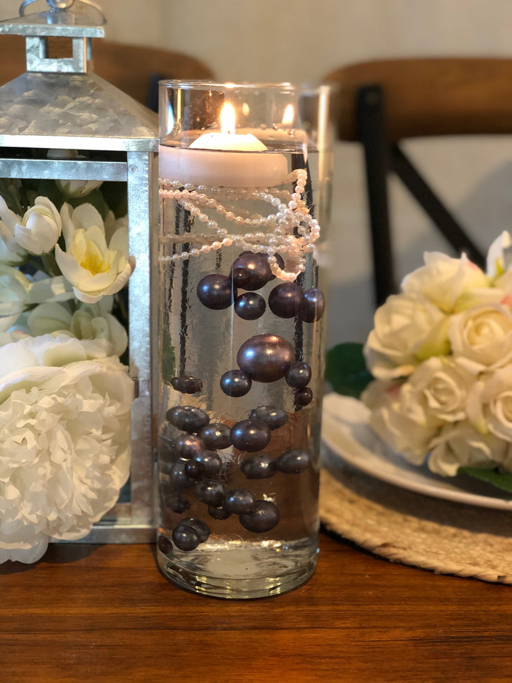 Decor Ideas For Wedding, Bridal Shower, Baby Party, Birthday Party. Gray Floating Pearl Decoration/Centerpiece