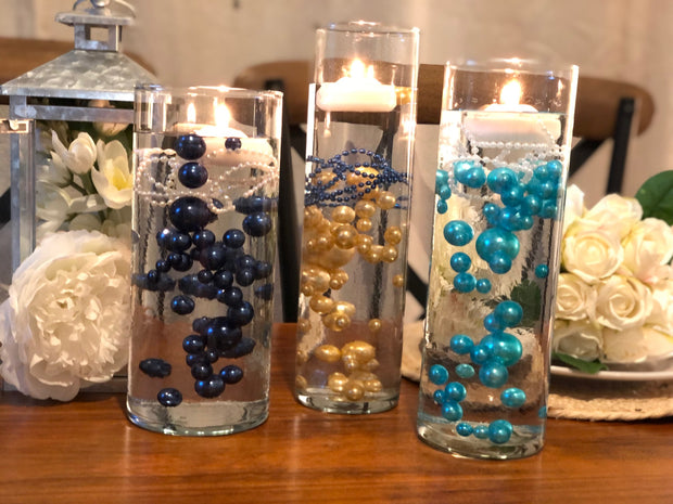 Decor Ideas For Wedding, Bridal Shower, Baby Party, Birthday Party. Teal Blue Floating Pearl Decoration/Centerpiece