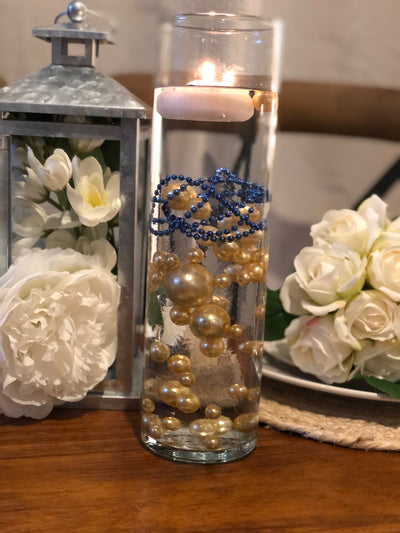 Decor Ideas For Wedding, Bridal Shower, Baby Party, Birthday Party. Champagne Floating Pearl Decoration/Centerpiece