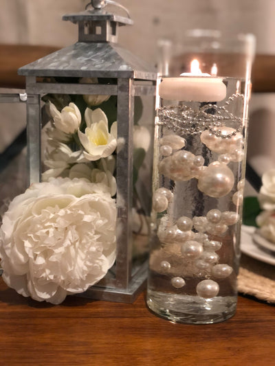 Ivory Pearls DIY Floating Pearl Decoration 80pcs No Hole Pearls