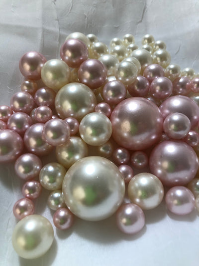 Light Pink Ivory Pearls, Vase Fillers For Floating Pearl Centerpiece, Table Scatters