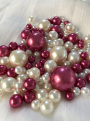Berry Ivory Pearls, Vase Fillers For Floating Pearl Centerpiece Decor