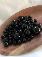 Black Vase filler pearls, floating pearl centerpiece, table scatters