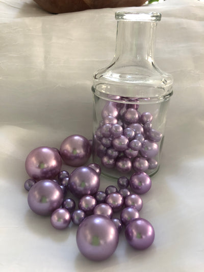 Lavender Pearl Vase Filler Pearls, Floating Pearl Decor, Table Scatters