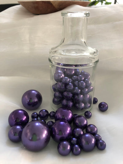 Purple vase filler pearls, floating pearl centerpiece, table scatters