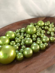 Lime Mint Green Pearls Vase Filler Pearls, Floating Pearl Decor, Table Scatters