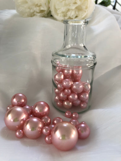 Pink Vase Filler Pearls, Table Decor Floating Pearl Centerpiece