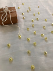 Yellow Table Pearls For Wedding And Party, Table Confetti, Vase Fillers